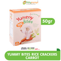 YUMMY BITES Rice Crackers 50 gr - CARROT / Rasa Wortel
