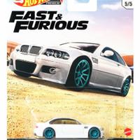 Hot Wheels Premium BMW M3 E46 Euro Fast & Furious ban karet
