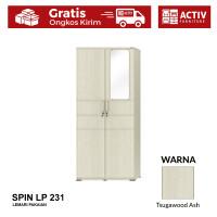 Activ Lemari Pakaian Minimalis / Wardrobe Baju Kaca / SPIN LP 231 - TsugawoodAsh