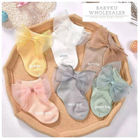 Kaos kaki bayi model pita renda / Baby socks big ribbon