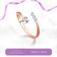 Cincin Emas Batu Berlian Threea Ring Diamond Pavilion