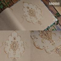 [MURAH] Jual wallpaper dinding motif mewah gold