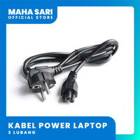 Kabel Power Laptop / Notebook 3 Lubang (ASUS/HP/ROG/TUF/MSI/DLL)