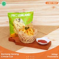 Kentang Goreng Frozenland Crincle Cut 500 gr