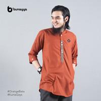 Kurta Qays Bunayya Sunnah Clothing Kurta Ikhwan Lengan 3/4 Toyobo - OrangeBata, S