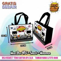 Tas ultah anak Batman / tas ulang tahun / souvenir / gratis desain