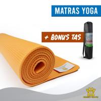 Matras Yoga BONUS TAS Karpet Gym Olahraga/ Tebal 8mm Size 61x173 cm - Kuning