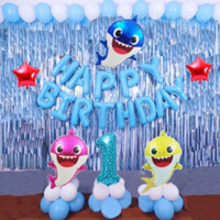 Cammomile Balon Party in a box PIB008 Paket Birthday set baby shark de