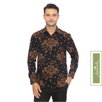 Agrapana Adwitiya Slim Fit Kemeja Batik Print Lengan Panjang