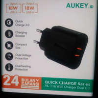 aukey charger 2 ports 36w qc 3 0-500076