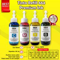 Tinta 664 Premium Refill Printer Epson L110 L210 L220 L300 L310 L360