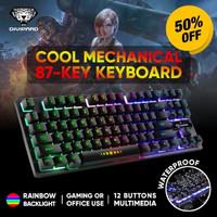 Keyboard gaming semi mechanical divipard Gk10