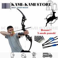 Busur Panah TAFFSPORT Hunting Archery Bow 30-45 LBS +anak panah