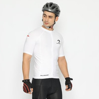 Baju Baselayer Jersey Round Full Zipper White Sepeda Gowes Cycling