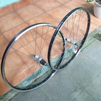 Wheelset 26 araya freehub Shimano Acera parallax 7 speed rims hitam