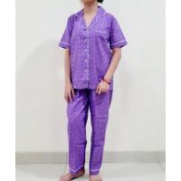 baju tidur/piyama dewasa little lovely star lgn pdk/cln panjang ungu