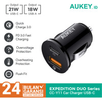Aukey Car Charger CC-Y11 with PD + QC 3.0 - 500476