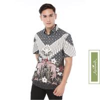 Agrapana Baju Kemeja Batik Slimfit Slim Fit Pria Lengan Pendek Labda