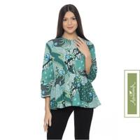 Agrapana Blouse Baju Batik Atasan Wanita Couple Lengan Panjang Bayu - XL