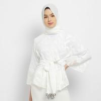 Outer Wanita White Vector - Emikoawa Outerwear Cardigan Premium