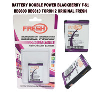 BATTERY DOUBLE POWER BLACKBERRY FS1 9800 TORCH 2 ORIGINAL FRESH