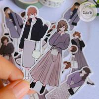 Sticker Deco Cute Fashion Girl-Sticker Scrapbook Diary Planner Journal