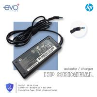 ADAPTOR CHARGER CAS LAPTOP HP ORIGINAL 19.5V 3.33A PIN BIRU / BLUEPIN