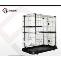 Cat Cage Dayang / Kandang Kucing 2 Tingkat + Ayunan 109 x109,5 x63,5cm