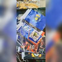 bendera meja custom atau bendera kecil bahan satin 2 sisi