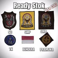 Atribut Sekolah Bet/Badge /Logo/Bordir OSIS SD/SMP/SMA Grosir Murah