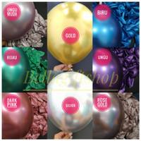 [ECER/GROSIR] balon latex double metalik chrome - balon tebal 12 inch