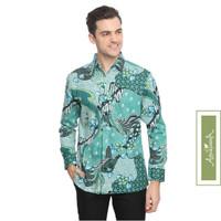 Agrapana Baju Kemeja Hem Batik Pria Premium Lengan Panjang Modern Bayu