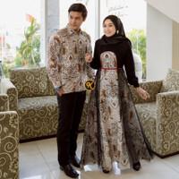 baju couple gamis terbaru batik