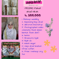 paket akad nikah murah dapet makeup baju pengantin dekor henna foto