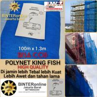 jaring pengaman bangunan proyek/polynet