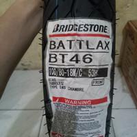 BAN LUAR BATTLAX BT 46 UKURAN 100 /80-18 TUBELESS