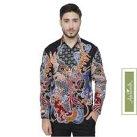 Agrapana Baju Batik Pria Kemeja Batik Pria Lengan Panjang Premium Gora