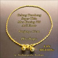Gelang Tambang Super Thin Mas Kuning Kadar 700 Asli Emas - Gift Ideas