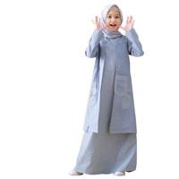 Lunan Go Gamis Couple Ibu Anak Baju Muslim anak Katun LSA 426 Premium