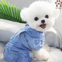 Petpaw Baju Anjing Kucing Blue Denim Jumpsuit Premium