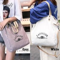 Tote Bag GD22353 Tas Bahu Kanvas Shoulder Bag Canvas Wanita Import