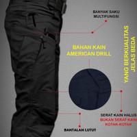 Celana Tactical Bahan Drill Serat Lembut Taktikal Bukan kotak-kotak - TACTICAL KREM, DRILL 34
