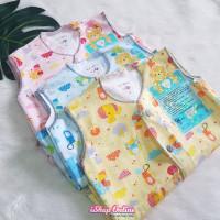 3Pcs Baju Kutung Libby Bayi 3-6 Bulan Kancing Depan SNI