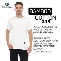Cottonology Kaos Putih Cotton Bamboo Premium