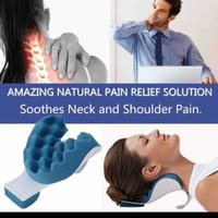 Bantal terapi tulang leher neck pain travel pillow mobil anti pegal on