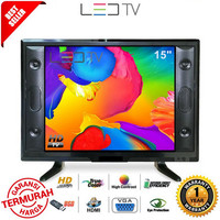 SAKURA TV MURAH 15 Inch USB MOVIE LED HD TV - GARANSI RESMI 1 TAHUN -