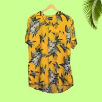 Baju Pantai Pria hawaii surfing motif bunga Bahan Premium