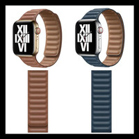 Special Price Apple Watch Leather Link Strap Kulit Series Se 6 5 4 3 2