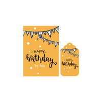 KARTU UCAPAN & HANG TAG SET   BLANK GREETING CARD / LEBARAN / BDAY - BIRTHDAY