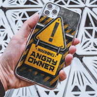 Custom Case Hp Angry Owner High Grade Casing Anti Gores